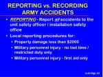 reporting vs recording army accidents44