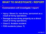 what to investigate report commanders will investigate report21
