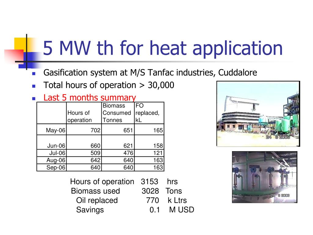 5 MW th for heat application