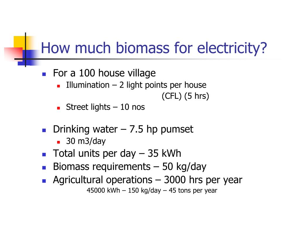 How much biomass for electricity?