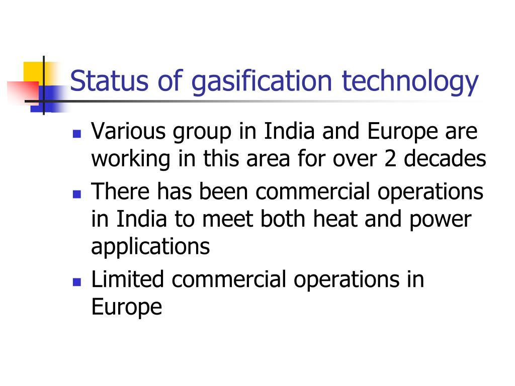Status of gasification technology