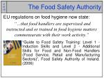 the food safety authority