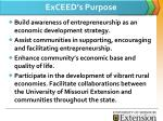 exceed s purpose