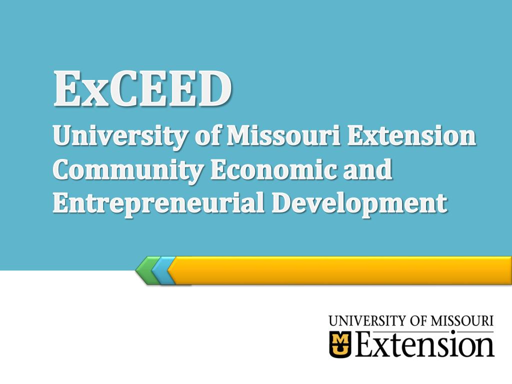 exceed university of missouri extension community economic and entrepreneurial development l.