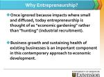 why entrepreneurship
