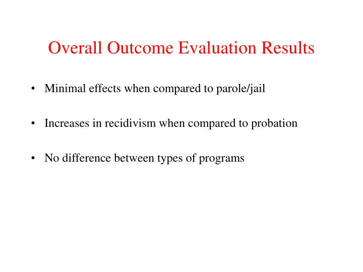 Overall Outcome Evaluation Results