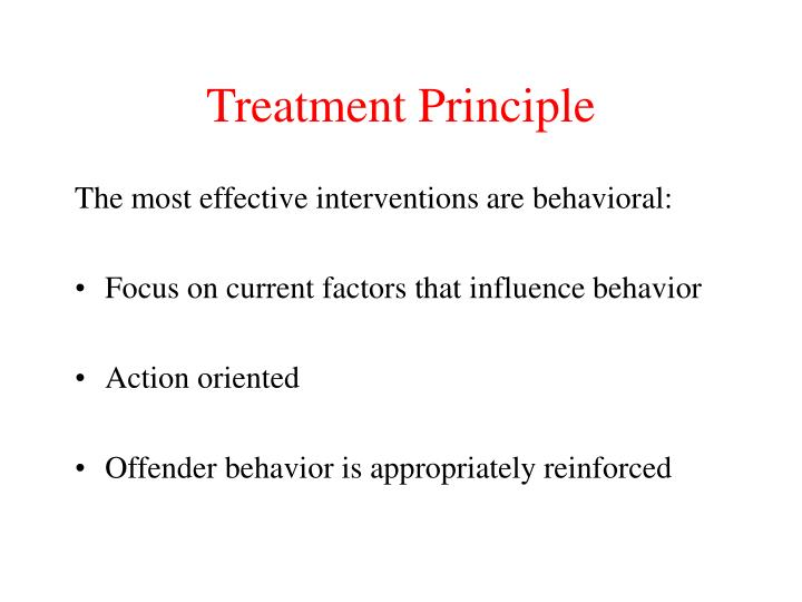 Treatment Principle