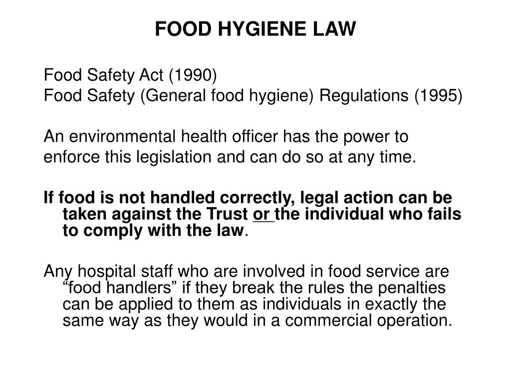 FOOD HYGIENE LAW