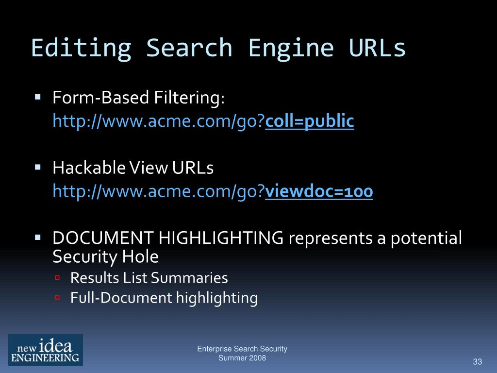 Editing Search Engine URLs