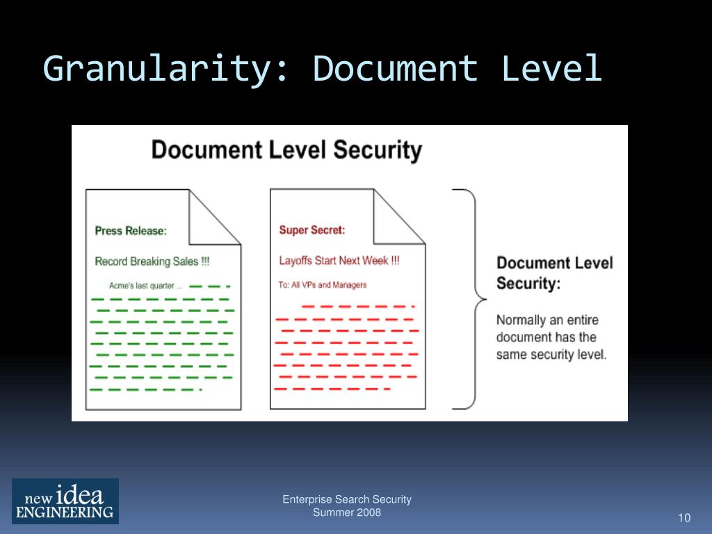 Granularity: Document Level