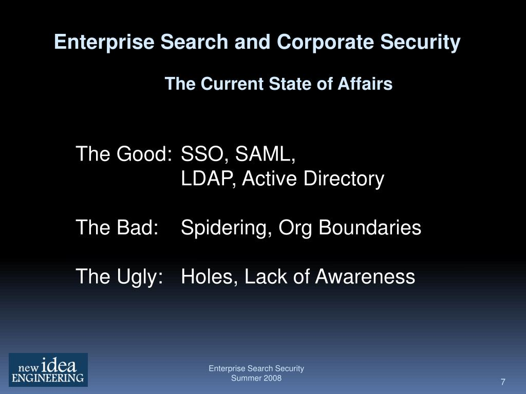 Enterprise Search and Corporate Security