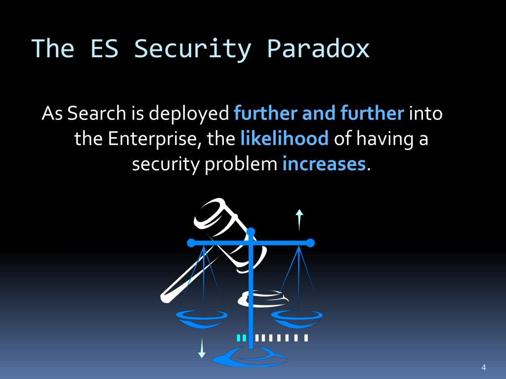 The ES Security Paradox
