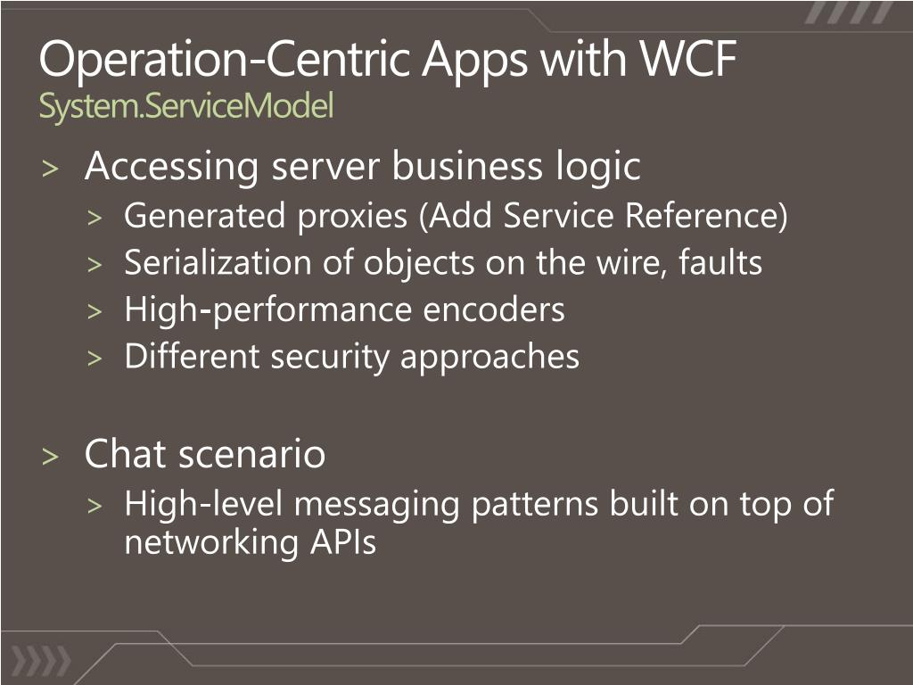 Operation-Centric Apps with WCF