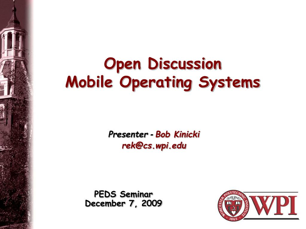 open discussion mobile operating systems l.