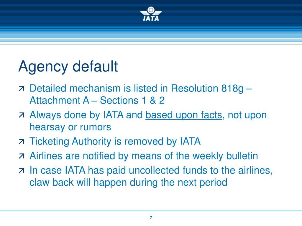 Agency default