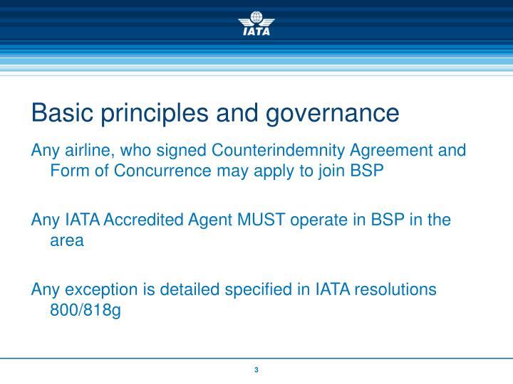 Basic principles and governance3