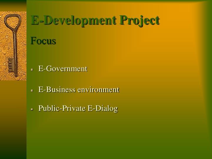 E-Development Project