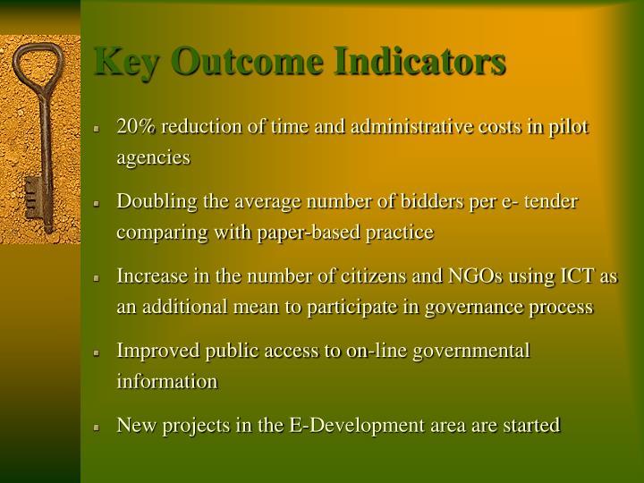 Key Outcome Indicators