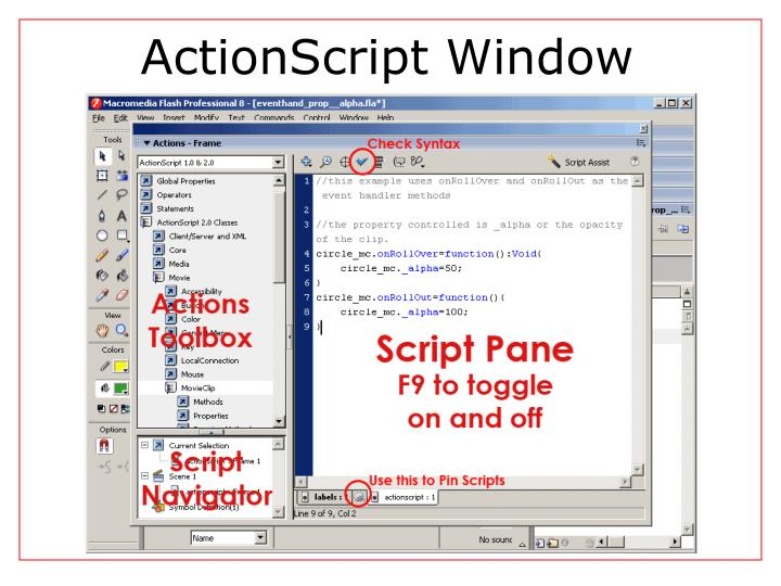 Actionscript window