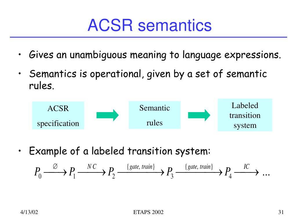 ACSR semantics