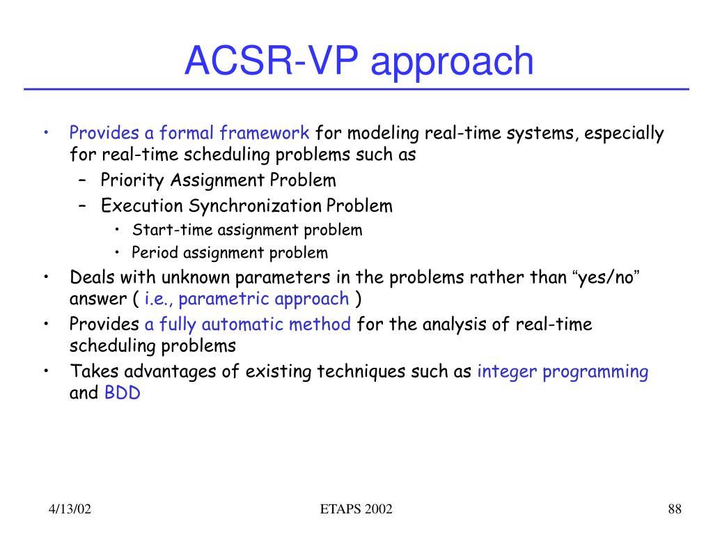 ACSR-VP approach