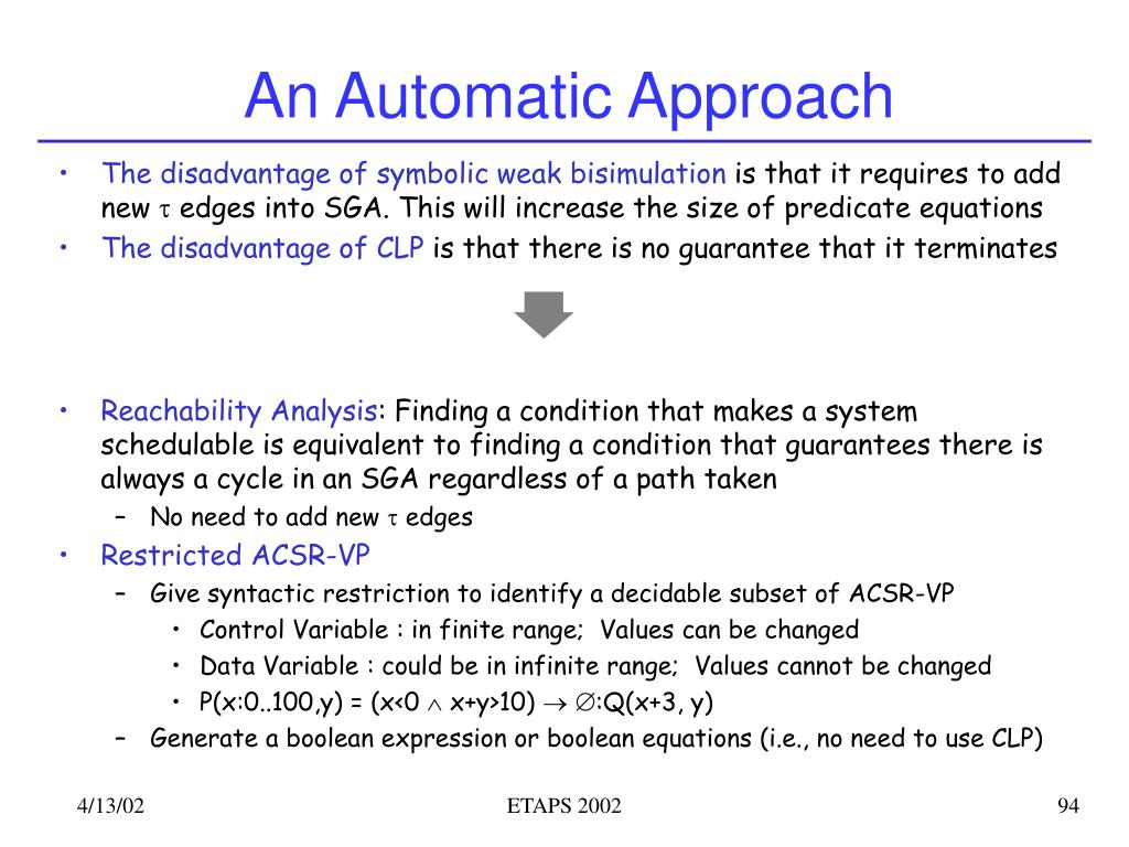 An Automatic Approach