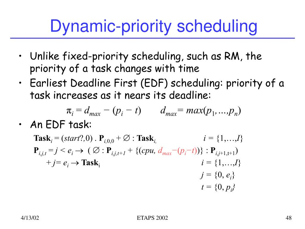 Dynamic-priority scheduling