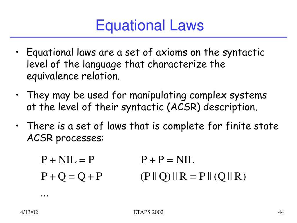 Equational Laws