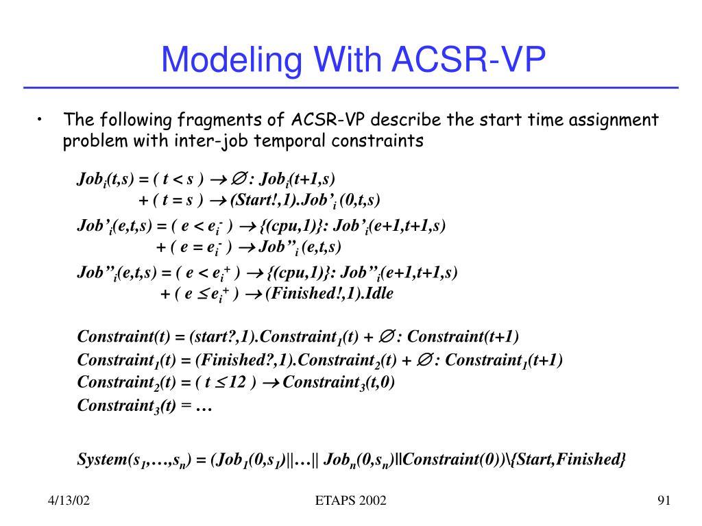 Modeling With ACSR-VP