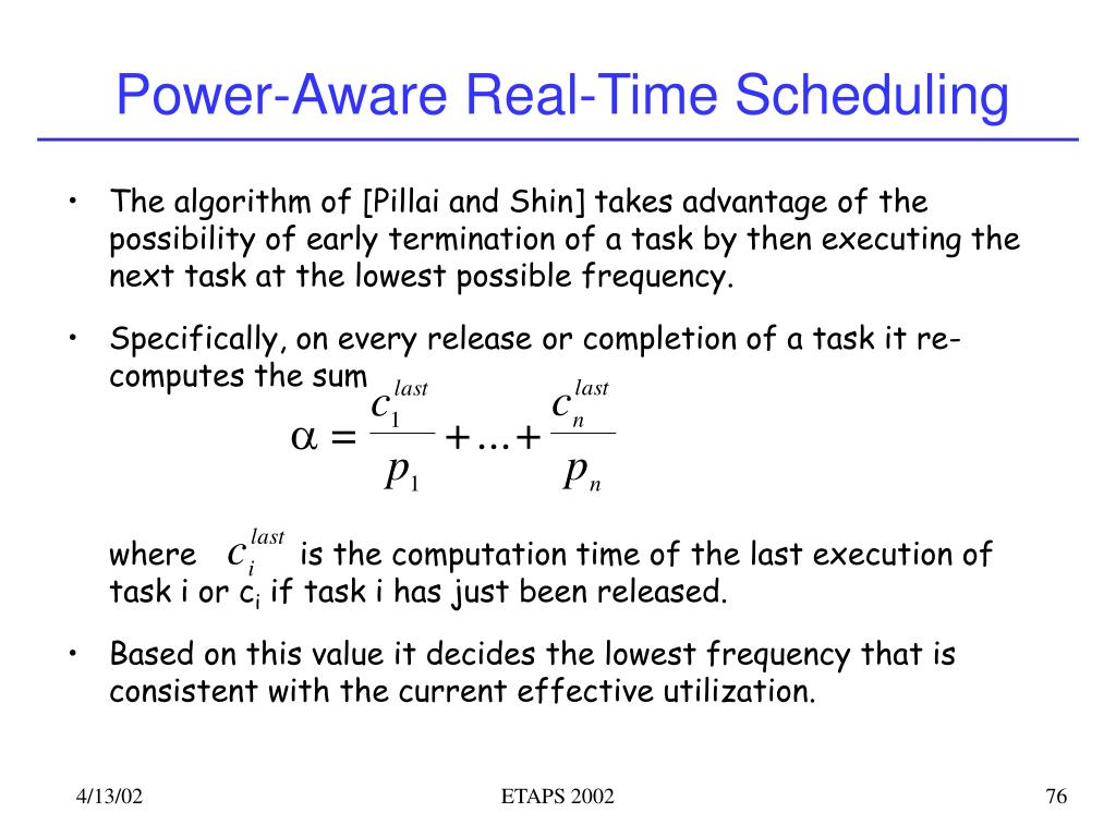 Power-Aware Real-Time Scheduling