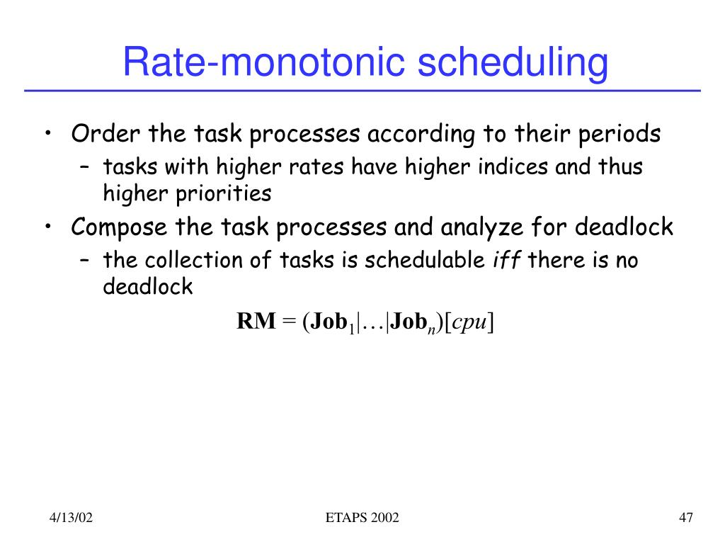 Rate-monotonic scheduling