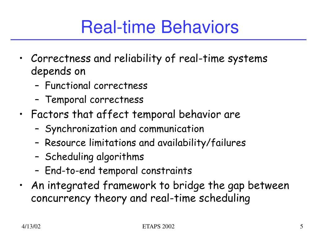 Real-time Behaviors