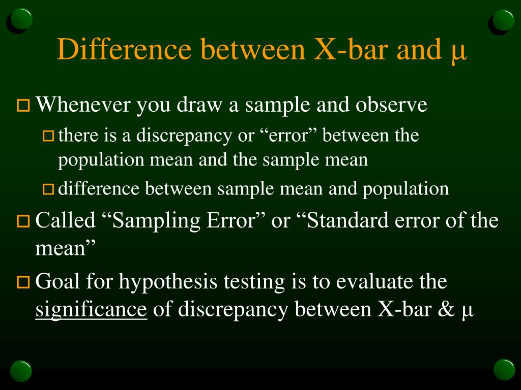 Difference between X-bar and