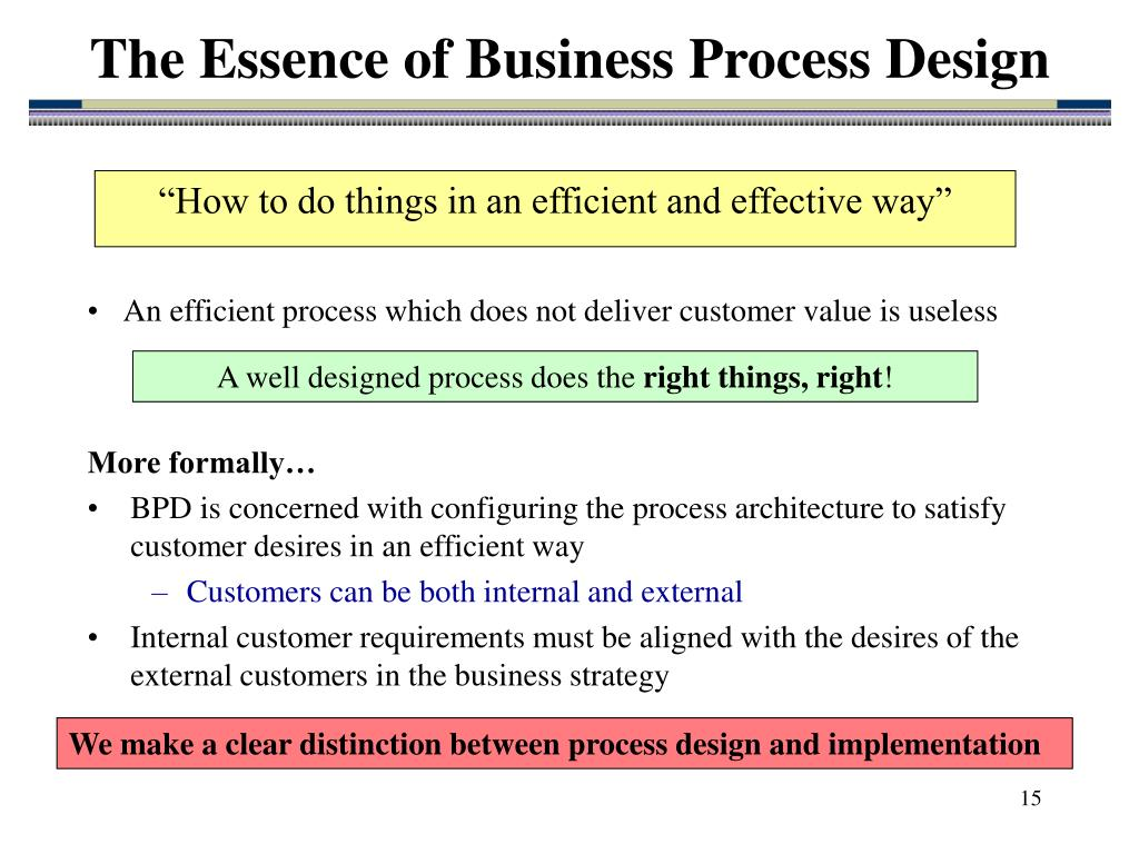 The Essence of Business Process Design