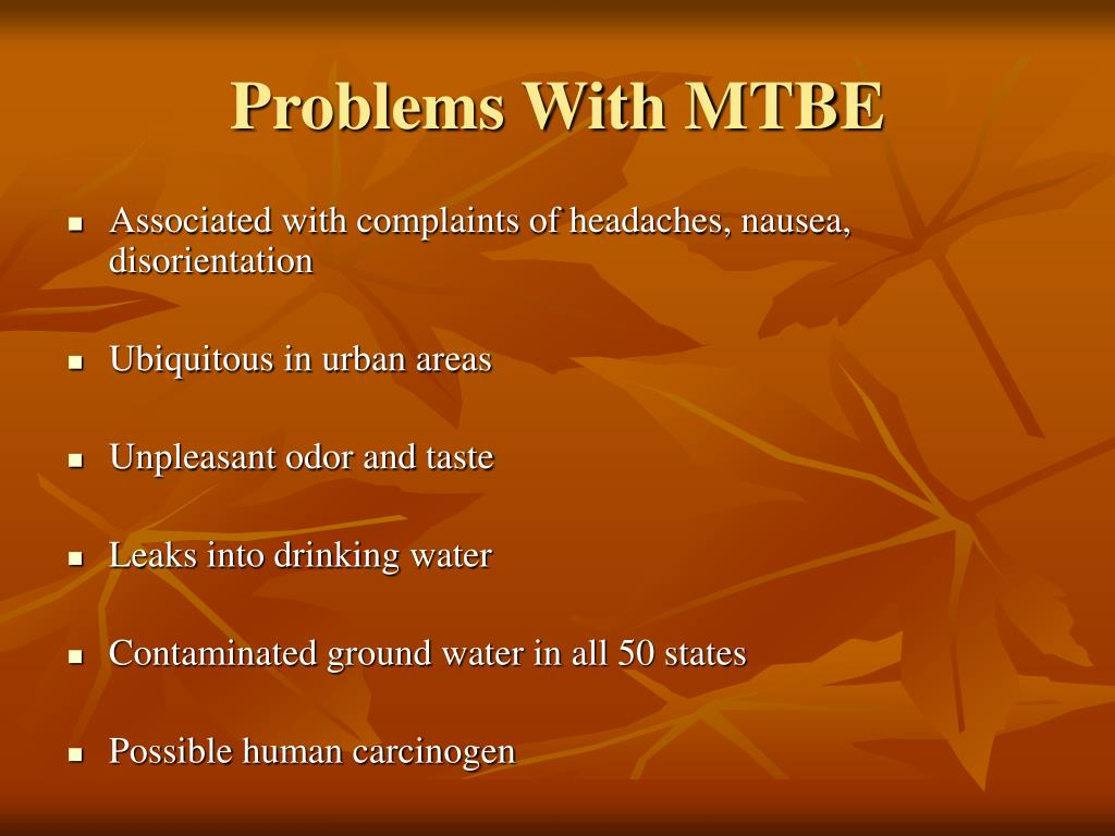Problems With MTBE