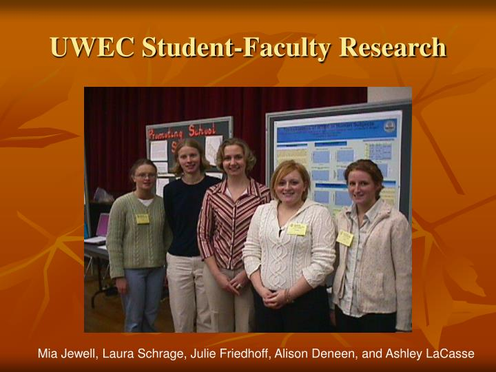 Uwec student faculty research
