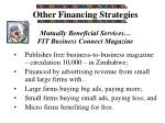 other financing strategies
