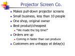 projector screen co