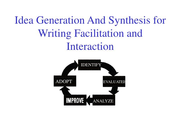 Idea generation and synthesis for writing facilitation and interaction