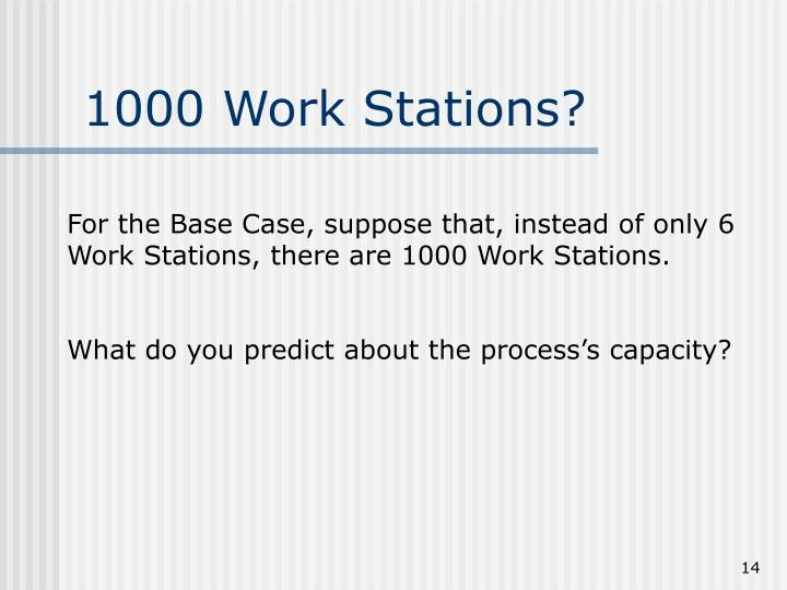 1000 Work Stations?