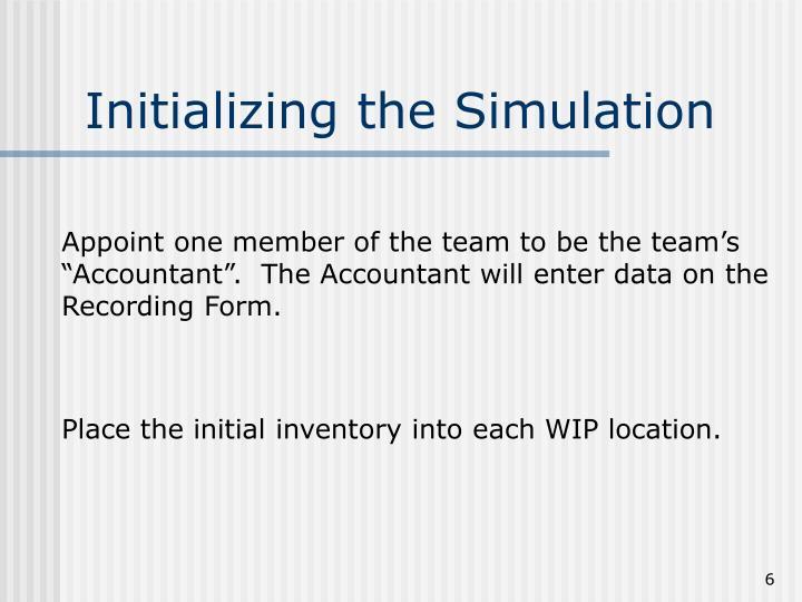 Initializing the Simulation