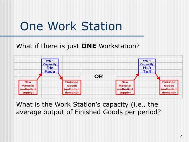 One Work Station