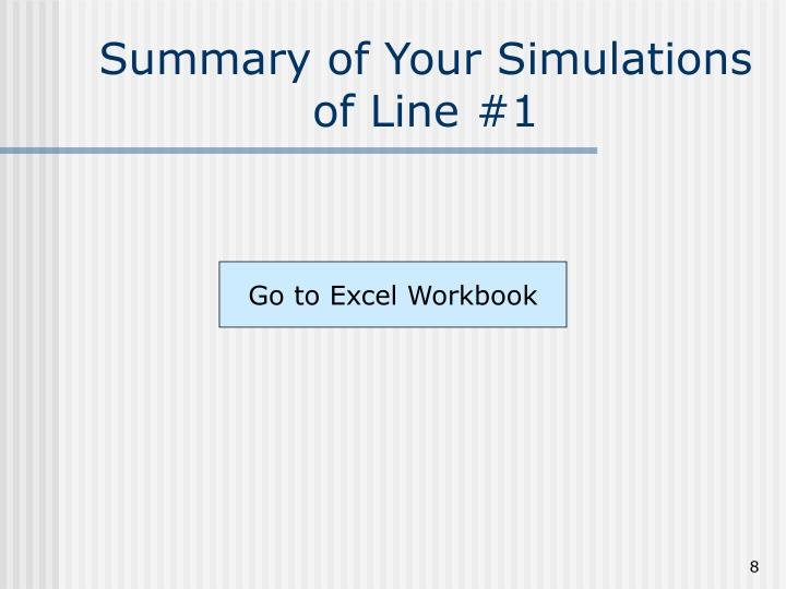 Summary of Your Simulations of Line #1