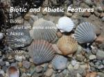biotic and abiotic features