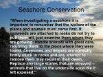 seashore conservation