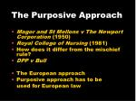the purposive approach