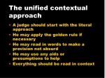 the unified contextual approach