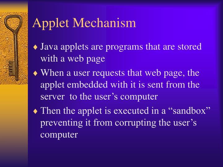 Applet Mechanism