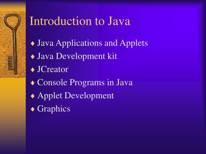 Introduction to java1