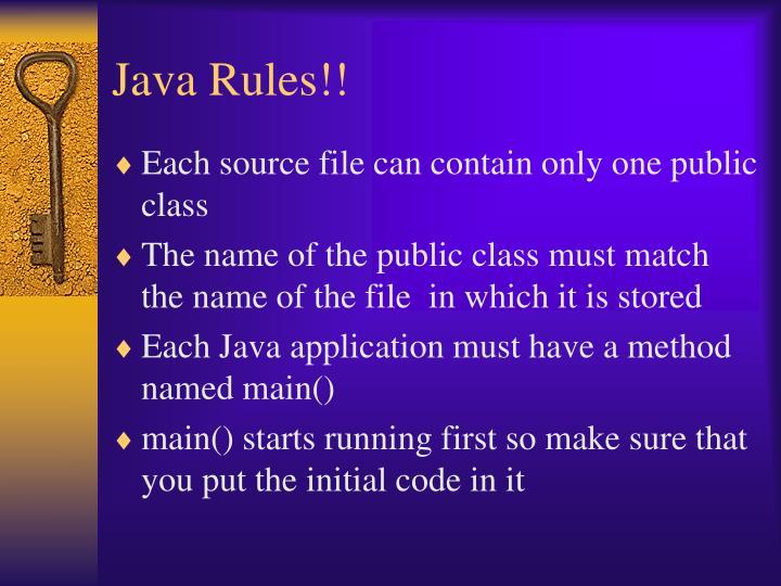 Java Rules!!